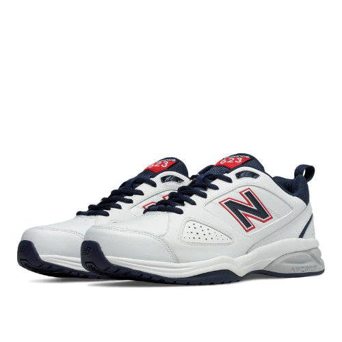 New Balance 623v3 Trainer Men's Shoes - White / Navy / Red (MX623US3)