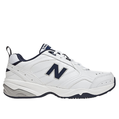 New Balance 624 Men's Everyday Trainers Shoes - White, Navy (MX624WN2)