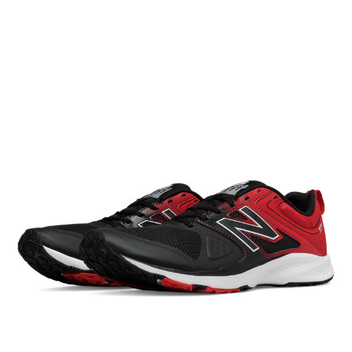 New Balance 777v2 Trainer Men's Shoes - Black / Red (MX777BR)