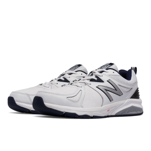 New Balance 857v2 Men's Everyday Trainers Shoes - White / Navy (MX857WN2)