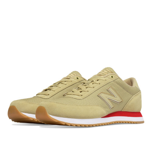 New Balance 501 Ripple Sole Textile Men's Running Classics Shoes - Dust / Crimson (MZ501AAE)