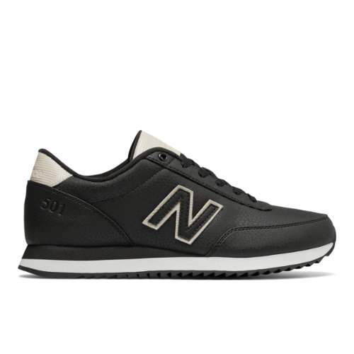 New Balance 501 Ripple Sole Men's Running Classics Shoes - Black / Off White (MZ501ASW)