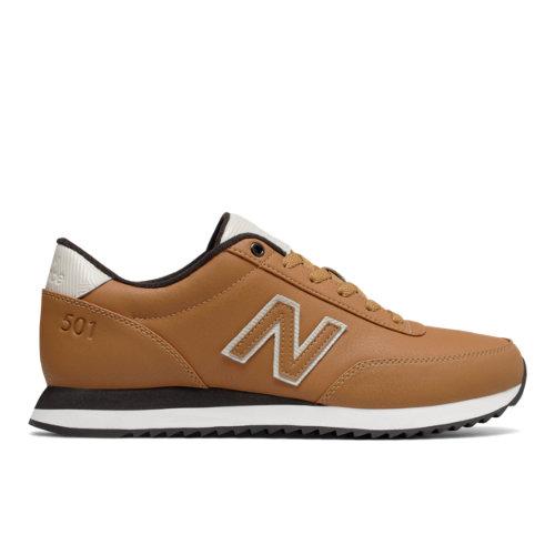 New Balance 501 Ripple Sole Men's Running Classics Shoes - Brown / Off White (MZ501ASX)