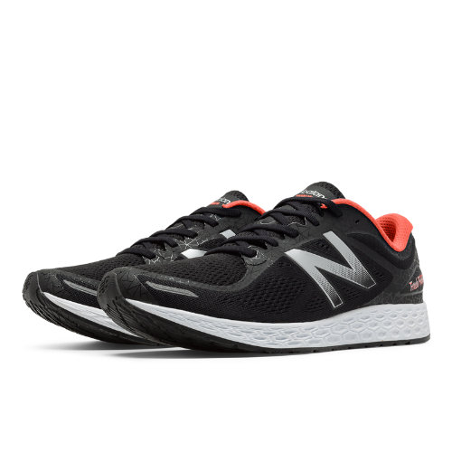 New Balance Zante v2 Brooklyn Men's Soft and Cushioned Shoes - Black / Silver / Orange (MZANTBK2)