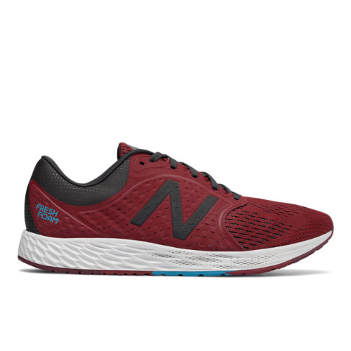 New Balance Fresh Foam Zante v4 Men's Soft and Cushioned Shoes - Dark Red / Dark Grey (MZANTRW4)