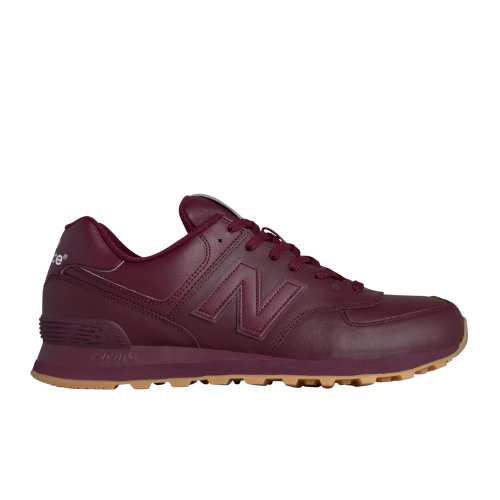 New Balance 574 Leather Men's Shoes - Burgundy (NB574AAB)