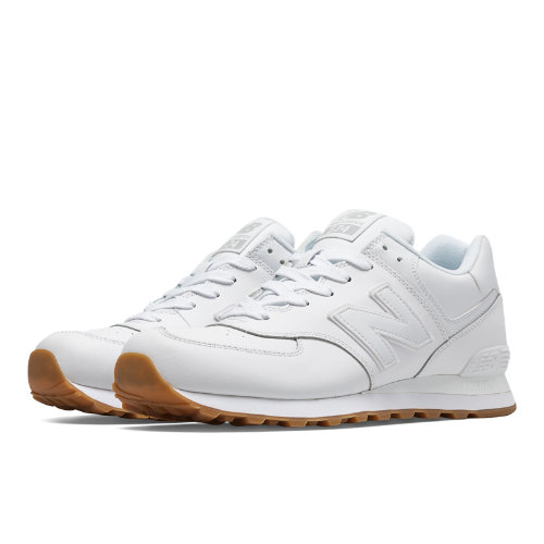 New Balance 574 Leather Men's 574 Shoes - White (NB574BAA)