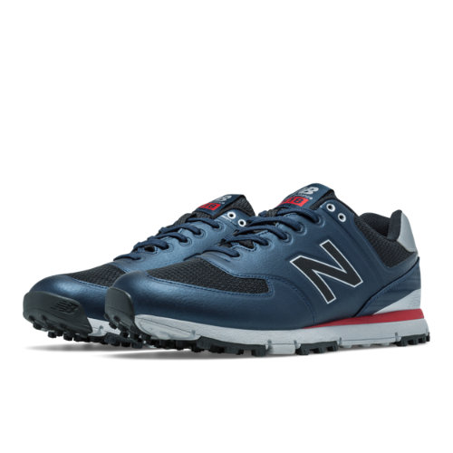 New Balance Golf 518 Men's Golf Shoes - Navy / Red / Grey (NBG518NR)