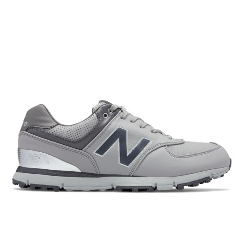 New Balance Golf Leather 574 Men's Golf Shoes - Grey / Silver (NBG574GRS)