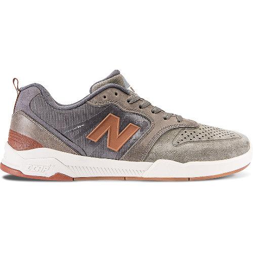 New Balance 868 Men's Skateboarding Shoes - Military Foliage Green / Grey / Orange (NM868AT)
