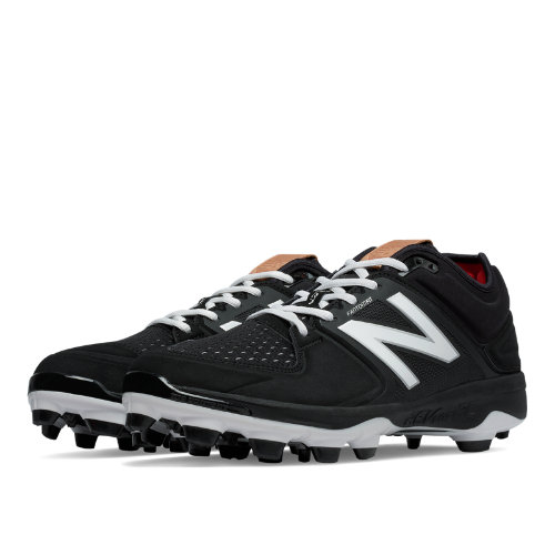 New Balance Low-Cut 3000v3 TPU Molded Cleat Men's Shoes - Black / White (PL3000K3)