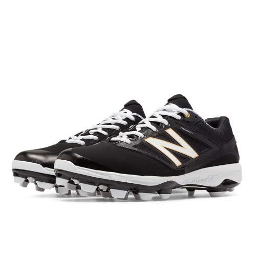 New Balance Low Cut 4040v3 TPU Molded Cleat Men's Low-Cut Cleats Shoes - Black, White (PL4040B3)