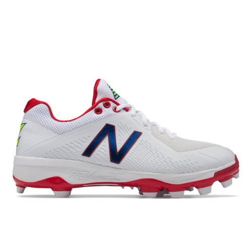 New Balance TPU 4040v4 Puerto Rico Men's Low-Cut Cleats Shoes - White / Red (PL4040F4)