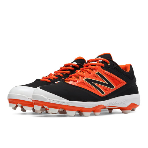 New Balance Low Cut 4040v3 TPU Molded Cleat Men's Low-Cut Cleats Shoes - Black, Orange (PL4040O3)