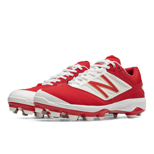 New Balance Low Cut 4040v3 TPU Molded Cleat Men's Low-Cut Cleats Shoes - Red, White (PL4040R3)