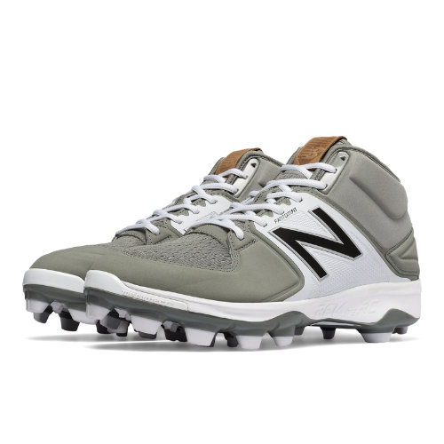 New Balance Mid-Cut 3000v3 TPU Molded Cleat Men's Mid-Cut Cleats Shoes - Grey / White (PM3000G3)