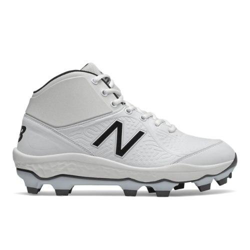 New Balance Fresh Foam 3000v5 Mid-Cut TPU Cleats Men's Baseball Shoes - White (PM3000W5)