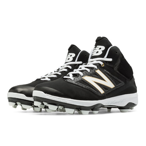 New Balance Mid-Cut 4040v3 TPU Molded Cleat Men's Mid-Cut Cleats Shoes - Black, White (PM4040B3)
