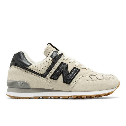 New Balance 574 Metallic Men's Sneakers Shoes - Dark Grey / Off White (QH17574M1)