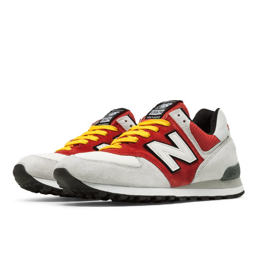 New Balance 574 Walk Off Baltimore Men's 574 Shoes - Grey / Red (QOT1US574)