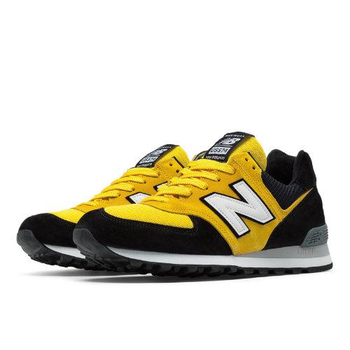 New Balance 574 Walk Off NY Men's 574 Shoes - Black / Yellow (QOT3US574)