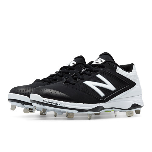 New Balance Low Cut 4040v1 Metal Cleat Women's Fastpitch Shoes - Black, White (SM4040B1)