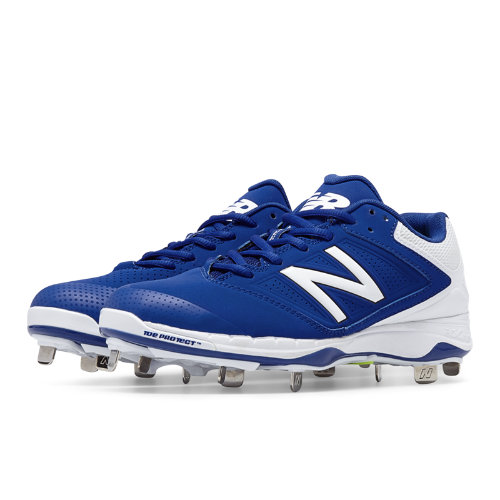 New Balance Low Cut 4040v1 Metal Cleat Women's Fastpitch Shoes - Cobalt Blue, White (SM4040D1)