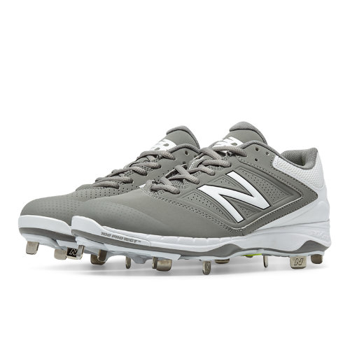 New Balance Low Cut 4040v1 Metal Cleat Women's Fastpitch Shoes - Grey, White (SM4040G1)