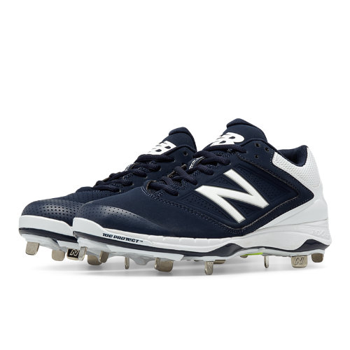 New Balance Low Cut 4040v1 Metal Cleat Women's Fastpitch Shoes - Navy, White (SM4040N1)