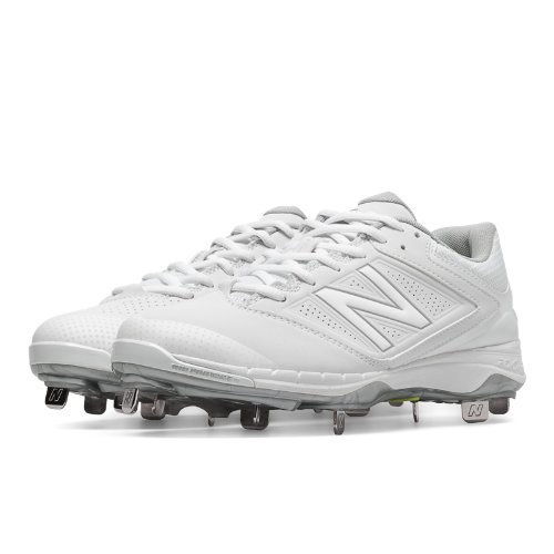 New Balance Low Cut 4040v1 Metal Cleat Women's Fastpitch Shoes - White (SM4040W1)
