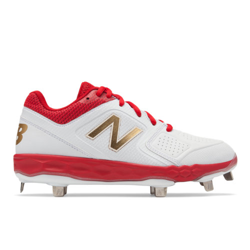 New Balance Fresh Foam Velo1 Women's Softball Shoes - Red / White (SMVELOR1)