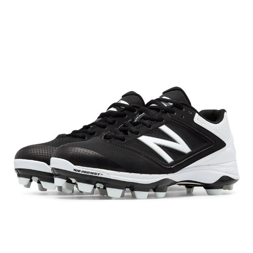 New Balance Low Cut 4040v1 Plastic Cleat Women's Fastpitch Shoes - Black, White (SP4040B1)