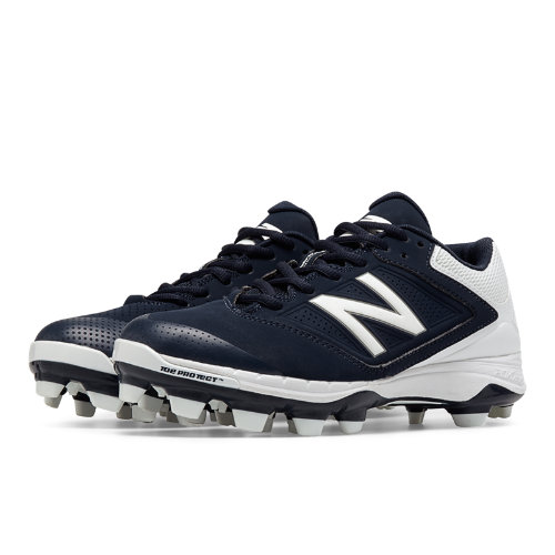 New Balance Low Cut 4040v1 Plastic Cleat Women's Fastpitch Shoes - Navy, White (SP4040N1)