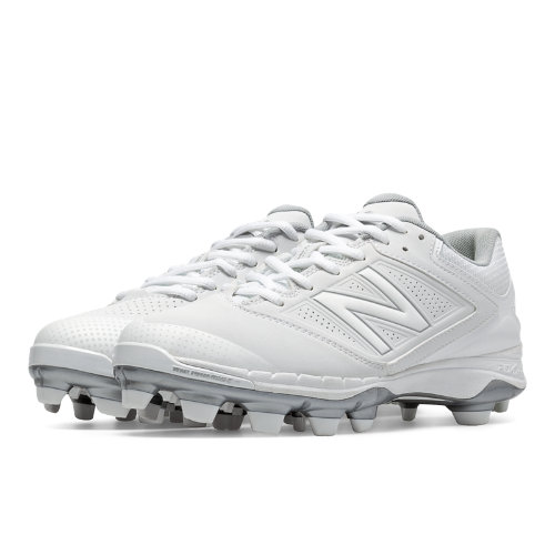 New Balance Low Cut 4040v1 Plastic Cleat Women's Fastpitch Shoes - White (SP4040W1)