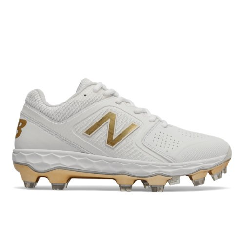 New Balance Fresh Foam SPVELOv1 Women's Softball Shoes - White / Gold (SPVELOX1)