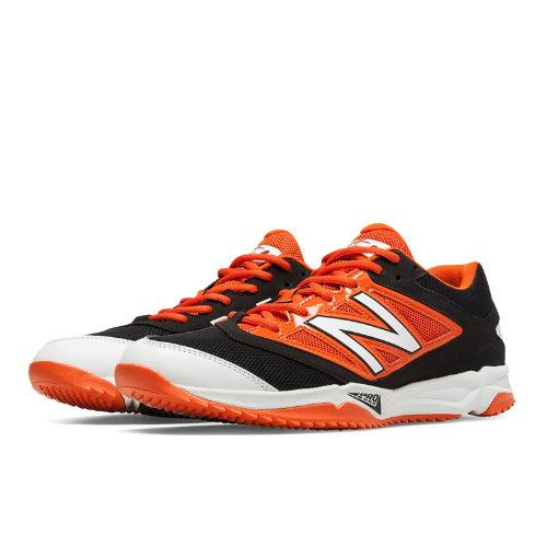 New Balance Turf 4040v3 Synthetic Mesh Men's Turf Shoes - Black, Orange (T4040BO3)