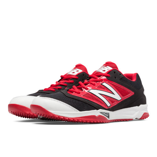 New Balance Turf 4040v3 Synthetic Mesh Men's Turf Shoes - Black, Red (T4040BR3)