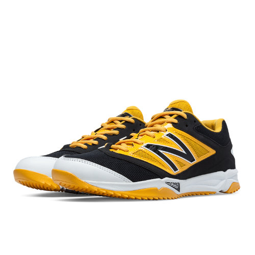New Balance Turf 4040v3 Synthetic Mesh Men's Turf Shoes - Black, Yellow (T4040BY3)