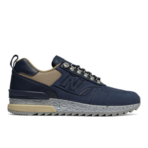 New Balance Trailbuster Nubuck Men's Outdoor Sport Style Sneakers Shoes - Navy / Light Brown (TBATNO)