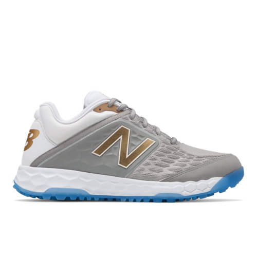 New Balance Fresh Foam 3000v4¡Vámonos! Playoff Pack Men's Turf Shoes - Silver (TS3000S4)