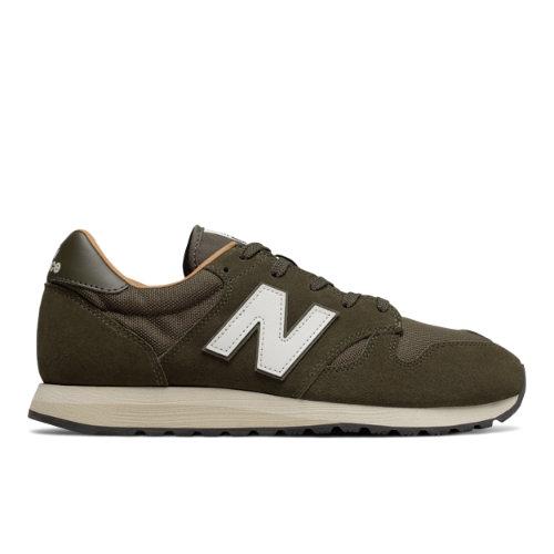 New Balance 520 Men's & Women's Running Classics Sneaker Shoes - Military Green / Brown (U520BG)