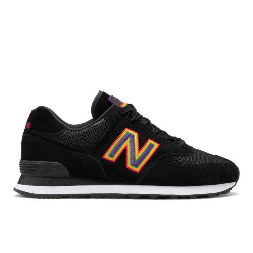 New Balance Unisex 574 Pride Pack Shoes - Black (U574GPM)