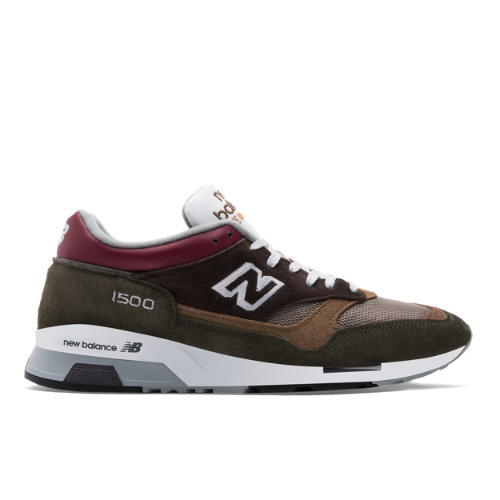 New Balance 1500 Made in UK Men's Shoes - Brown / Beige / Red (M1500GBG)