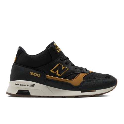 New Balance 1500 Made in UK Men's Mid-Cut Sneakers Shoes - Black / Beige (MH1500KT)