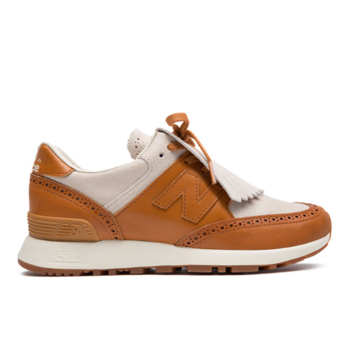 Grenson x New Balance 576 Made in UK Women's Sneakers Shoes - Off White / Brown (W576GTW)