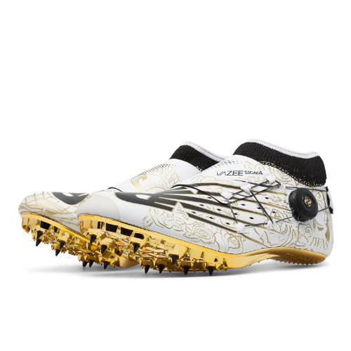 New Balance Vazee Sigma Glory Men's & Women's Track Spikes Shoes - Black / White / Gold (USD200T2)
