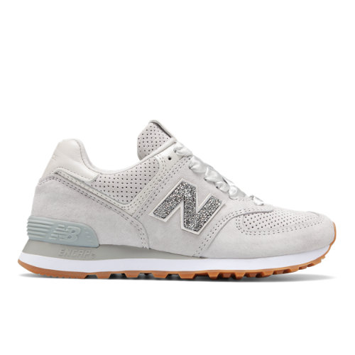 New Balance Limited 574 with Swarovski® Crystal Women's Shoes - Light Grey (USW574WM)