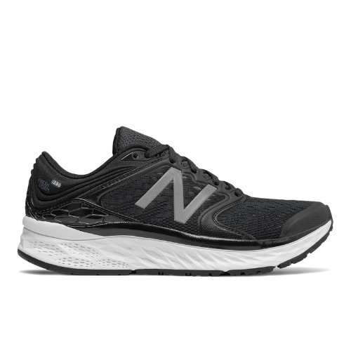 New Balance Fresh Foam 1080v8 Women's Soft and Cushioned Shoes - Black / White (W1080BW8)