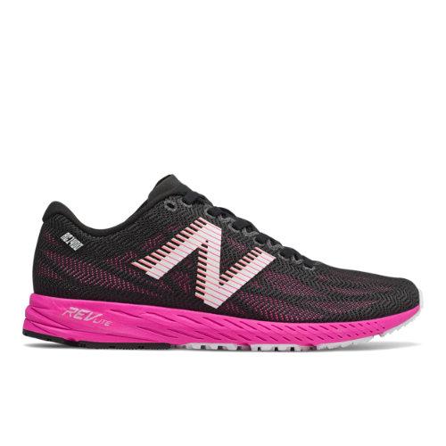 New Balance 1400v6 Women's Racing Flats Running Shoes - Black / Pink (W1400RP6)