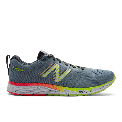 New Balance 1500v4 London Edition Women's Racing Flats Shoes - Grey / Hi-Lite (W1500LN4)